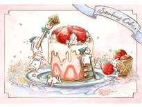 兔子草莓蛋糕-Rabbit Corner Studio